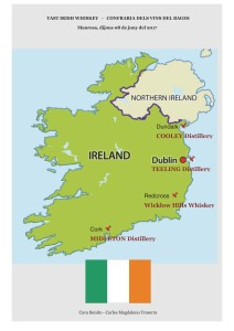 TAST IRISH WHISKEY CVB mapa