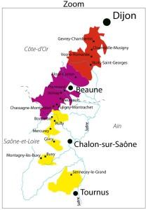 mapa borgogne